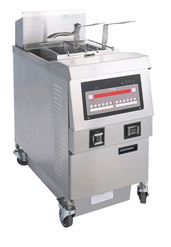 Small Commercial Kitchen Equipments 25L Stainless Steel Single - Tank Electric / Gas Open Fryer
